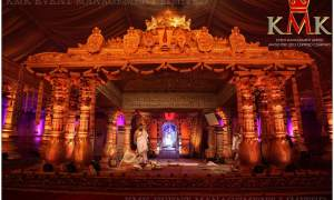 Wedding-stage-temple-theme